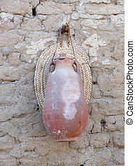 old ceramic can