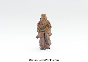 old ceramic chinese god