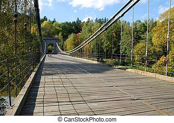Old chain bridge