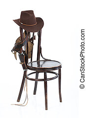 Old Chair And Cowboy Belt