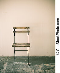 Old chair in room