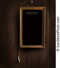 Old chalkboard with copyspace for writing menu - Old...