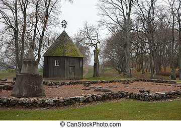 Old chapel in Kernave