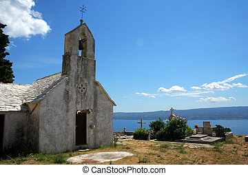 old chapel and cemetery in Croatia