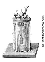 Old chemistry: hydrogen lighter - One of the first lighters...