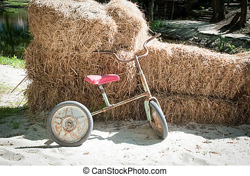 Old children's bicycle .