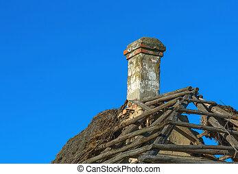 old chimney roof
