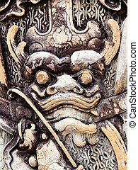 Chinese stone dragon