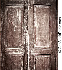 Old Chinese style door with vignette