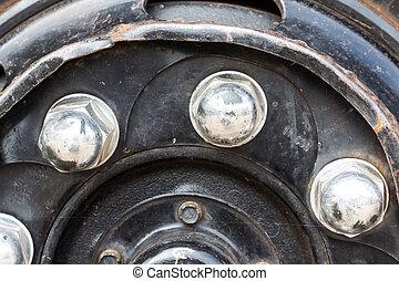 old Chrome Truck Lug Nuts
