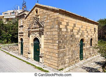 Old church at Zakynthos in Greece