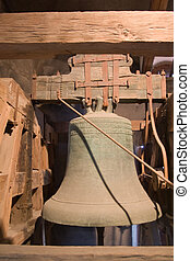 old church bell inside tower