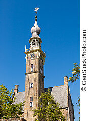 Old Church Bell Tower in Veere, Netherlands