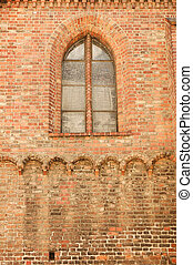 Old church brick wall background