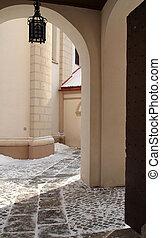 Old church entrance in Vilnius