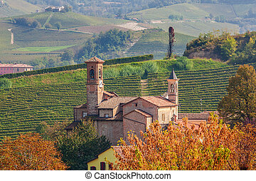 Old church in Barolo, Italy