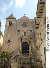 Old church in Cefalu, Sicily, Italy