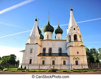 Old church in city center of Yaroslavl