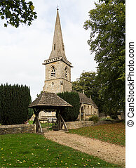 Old church in Cotswold district of England