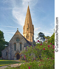Old Church in Cotswolds, Leafield, UK