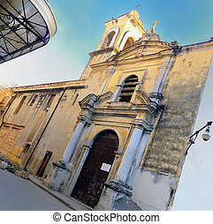 Old church in havana street