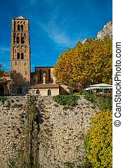 Old church in Moustiers-Sainte-Marie, France