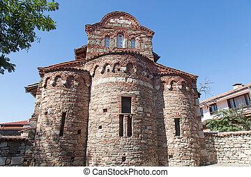 Old church in Nessebar, Bulgaria. UNESCO World Heritage Site