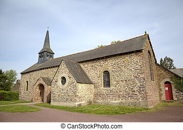 Old Church in Paimpont. Broceliande