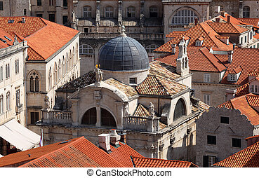 Old church in the Croatian town Dubrovnik