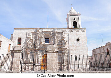 Old church in the historical center of Arequipa.