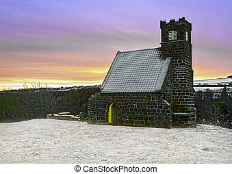 Old Church in the snow