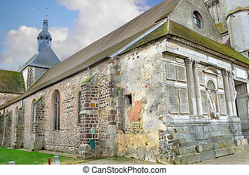 Old church in Verneuil-sur-Avre. France