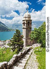 Old church inside Stari Grad, Kotor, Montenegro