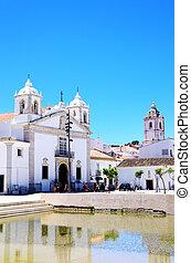 old church of Lagos city in Algarve, Portugal