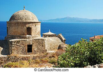 Old church of Monemvasia town, Greec - Old byzantine church ...