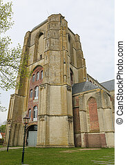 Old Church of the beautiful town of Veere, close to Middelburg, Zeeland, The Netherlands.