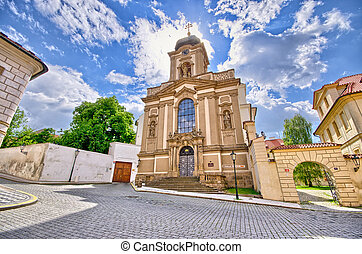 St. Jan Nepomuk Church in Prague, Czech Republic