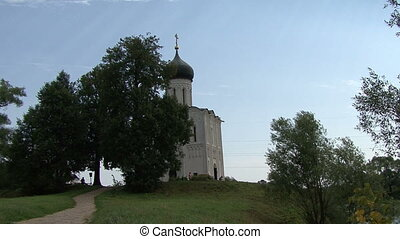 old church on the river bank