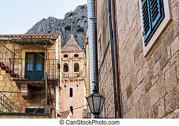 Old church tower at Omis