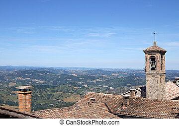 old church tower San Marino Italy