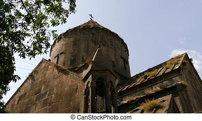 Old Church with Grass Growing on Roof
