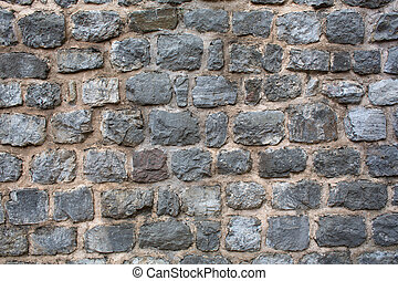 Old citadel stone wall background