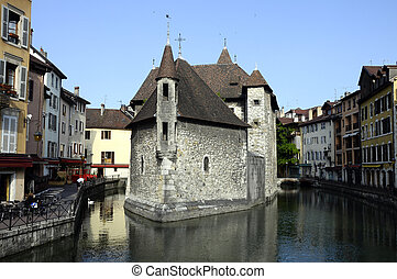 Old city and prison of Annecy, France