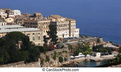 Old city at morning, Corfu, Greece