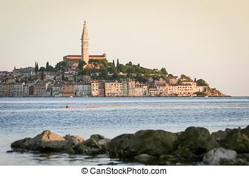 Old city core of Rovinj