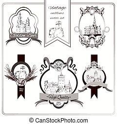 Old city emblems