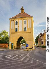 Old City Gate in Gryfice. Gryfice, Pomerania, Poland.