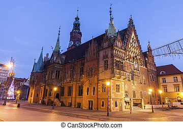 Old City Hall on Market Square in Wroclaw