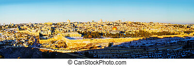 Old City in Jerusalem, Israel panorama