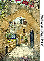 old city Jaffa - old stone city Jaffa in Tel Aviv
